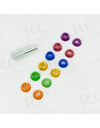 Color nuts for switches