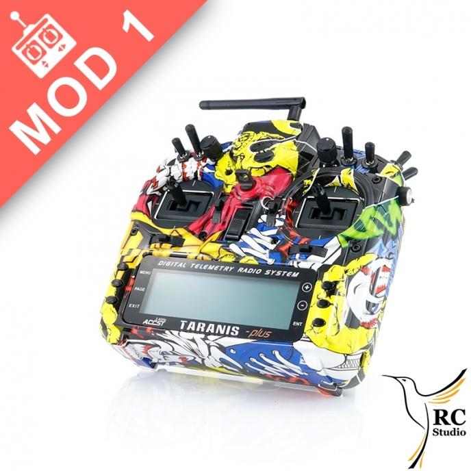 FrSky Taranis Plus SE (X9D+) Mod1 Monster Black Edition + zvýhodněné příslušenství