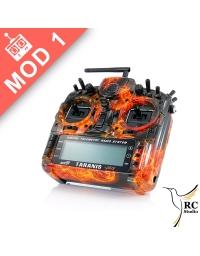 FrSky Taranis Plus SE (X9D+) Mod1 Oheň Black Edition + zvýhodněné příslušenství