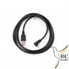 USB-A - Mikro USB kabel, 90°, 1.8m